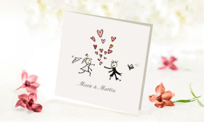 Bröllopsinbjudan Kärlek