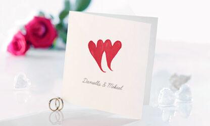 Bröllopsinbjudan Amore Red
